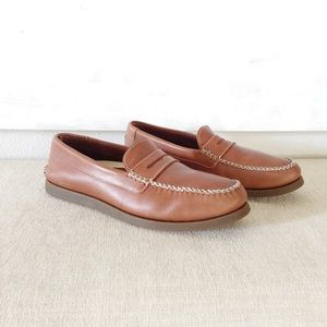 Brown Leather Sperry Loafers 10.5